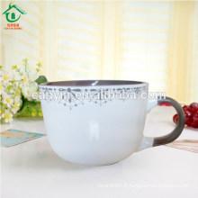 Bulk bon marché de grandes tasses à café en éco-céramique