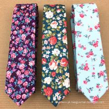 Laço de seda da flor dos homens da marca própria de Handprinted do costume