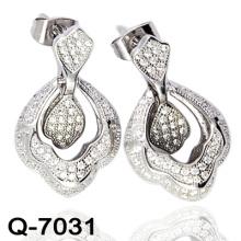 Dernières boucles d'oreilles Styles 925 bijoux en argent (Q-7031)