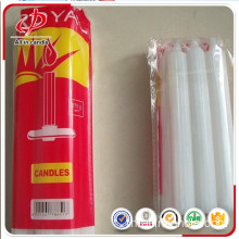 Johannesburg นิยมใช้ 450g White Fluted Candle