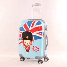3 Pieces Set Blue Hard Plastic Trolley ABS Suitcase Luggage