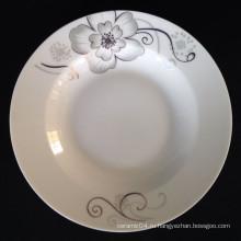 круглая суповая тарелка,линьи фарфоровая тарелка,обеденная тарелка