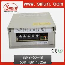 60W 48V 1.25A fuente de alimentación de conmutación IP40 impermeable