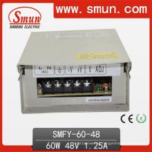 Fuente de alimentación de conmutación a prueba de lluvia 60W 48V 1.25A LED