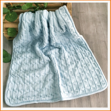 Soft Warm Acrlic/Polyester Double Layer Thick Blanket