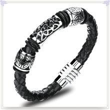 Joyería de moda cuero joyas pulsera de cuero (lb418)