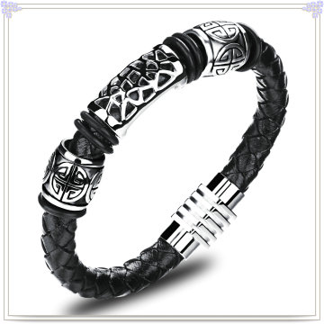 Fashion Jewelry Leather Jewelry Leather Bracelet (LB418)