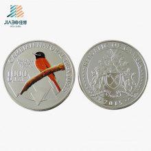 Liga de Amostra grátis Fundição Pássaro Logotipo Artesanato De Presente de Metal Moeda