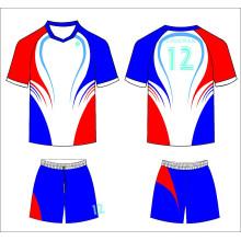 Ropa deportiva personalizada, jersey de fútbol de alta calidad 100% poliéster personalizado para equipos de fútbol uniforme