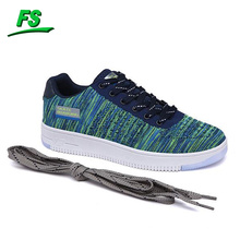 Vente chaude loisirs style hommes fly tricot casual sport chaussures skateboard chaussures de course chaussures de sport