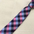 Custom Formal Promotional Silk Plaid Jacquard Men Wholesale Necktie