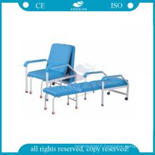 AG-AC003B hôpital accompagnent meubles chaises pliantes en métal pas cher