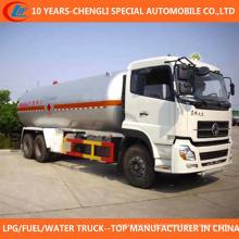 Caminhão de tanque do armazenamento do petroleiro LPG do petroleiro de 6X4 LPG 25cbm para a venda