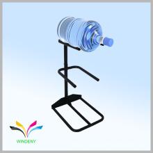 Alambre de metal de estilo simple blanco 5 galones dispensador botella de agua de almacenamiento de rack