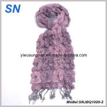 Moda raya flaco rayas de invierno caliente bufanda burbuja