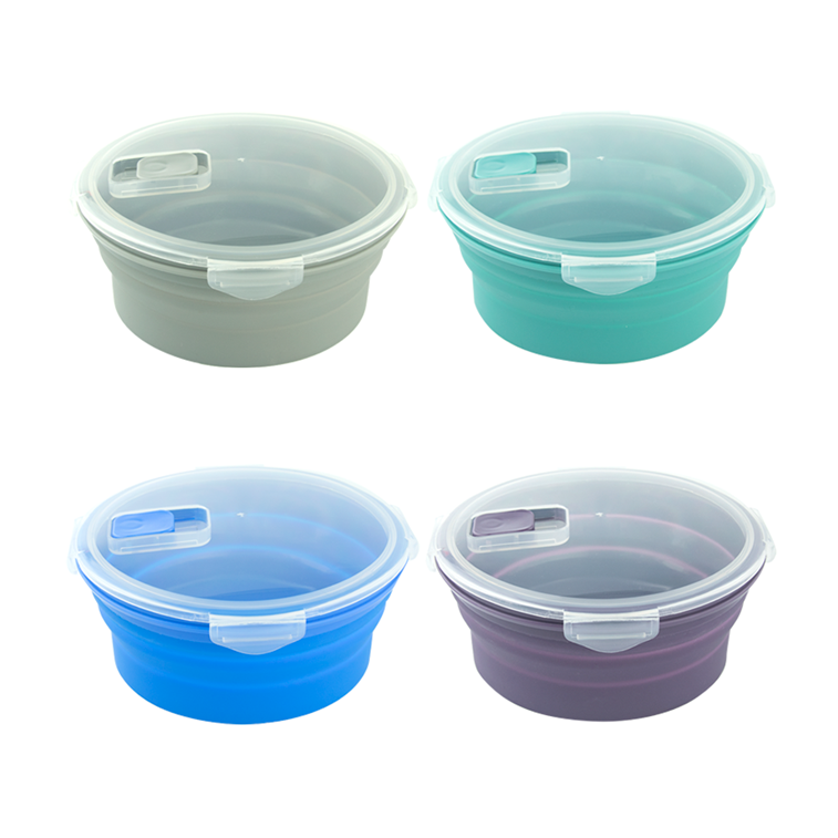 round shape silicone lunch box (39)