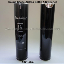 50ml noir rond forme acrylique presse Airless bouteille