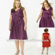Robe de soiree satin v-neck Short With Sleeveless 2012
