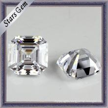 Wholesale Asscher Cut Synthetic Gemstone Cubic Zirconia