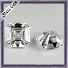 Atacado Asscher Cut Synthetic Gemstone Cubic Zirconia