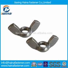 Acero inoxidable A2-70 Tuercas de ala DIN314 Hecho en China