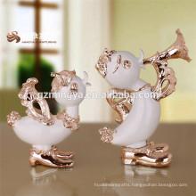 Hot selling high quality resin duck figurines resin desktop home decor resina sculpture