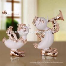 Горячие продажи высокое качество смолы фигурки утка смола рабочего стола домашнего декора Ресина скульптура