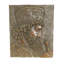 Estatua de latón en relieve Rey Relievo Escultura de bronce en decorado Tpy-971 / 971b