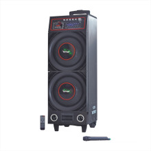 """Protable Speaker with Double 10"""" Bluetooth Battery (6100t)"""