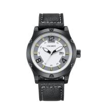 6869 Мужские наручные часы на размер 48 мм, металлический корпус Кожаный ремешок СС Пряжка Покрынная чернота IP