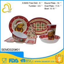 alta qualidade personalizado melamina 7 pc dinnerware set