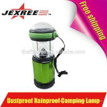 Alto Brillo 500 Lumen de aluminio LED 4X 1.5V AA LED Camping Luz