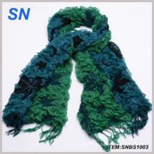 Bufanda verde burbuja de invierno bufanda cálida