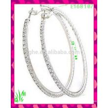 Die neuesten Design Schöne große Drop Ornament Ohrringe, chirurgische Stahl Ohrringe