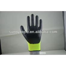 Hi-Viz nappyHi-Viz Acryl- und Nylon-Handschuhe beschichtetes Nitril