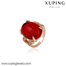 Xuping ювелирные изделия 14582 18k позолоченный новая мода золотое кольцо дизайн палец кольцо для женщин