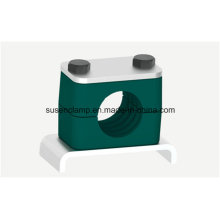 Clamp for Pipe with Angle Iron Base Plate