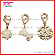 Charme / pendentif en métal d'or haut de gamme / Tag