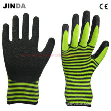 Colorful Nylon Shell Latex Coated Working Gloves (LS217)