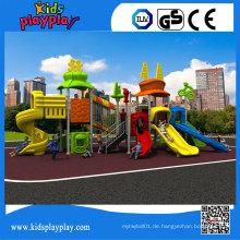 Kidsplayplay Kinderspiele Spielplatz im Freien mit Kunststoffrutsche zum Verkauf