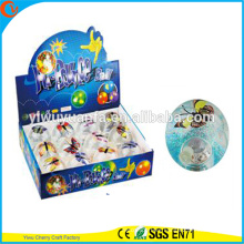 Hot Sell Kid's Toy 65mm Rubber LED Flashing Colorful Butterfly Bouncing Ball