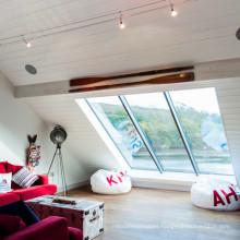 US style triple glazed design aluminium top hung window for skylight window