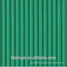 Green Ribbed Flame Retardant Neoprene Rubber Sheet