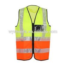 Флюоресцентный жилет ANSI / ISEA в износостойкой рубашке для взрослых с соответствующими сертификатами