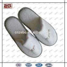 Guangzhou Lieferant Einweg-Weiß Velour / Terry Hausschuhe / Hotel Hausschuhe Großhandel