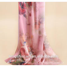 lady's fashion digital printed long shawl scarf