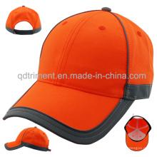 Bandas reflectantes 100% poliéster de neón de color Gorra de béisbol (TMB0686)