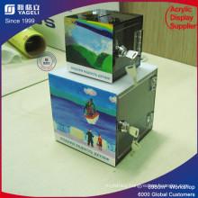 High Quality Customized Acrylic Charity Donation Box