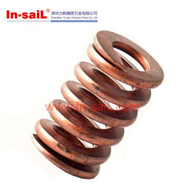 Primavera de torsión de resorte de compresión de cobre metálico personalizado para la parte de automóvil