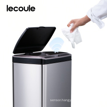 Lecoule automatic sensor trash can stainless steel 13 gallon garbage bin for kitchen